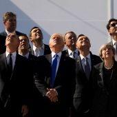 Algunos de los líderes asistentes a la cumbre de la OTAN