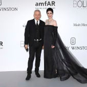 Jean Paul Gaultier junto a Coco Rocha