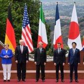 Fotografía de archivo de una cumbre del G7