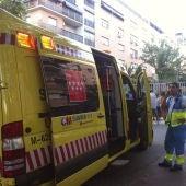 Fotografía facilitada por la Comunidad de Madrid de un vehículo del Summa 112