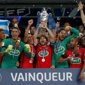 El PSG, con el trofeo de campeón de la Copa de Francia