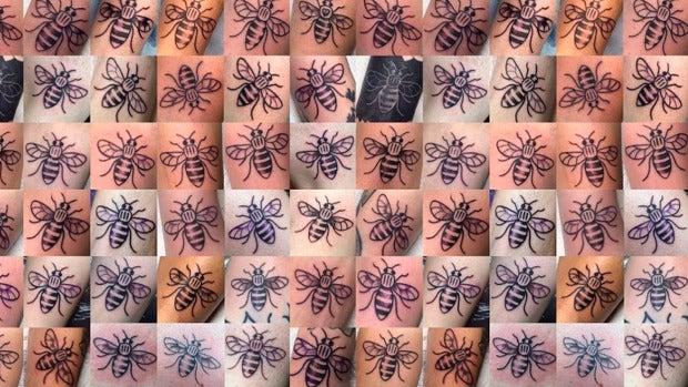 Internet: ¿Por qué se tatúan abejas los británicos?