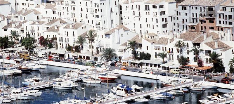 Vista aérea de Puerto Banús, en Marbella