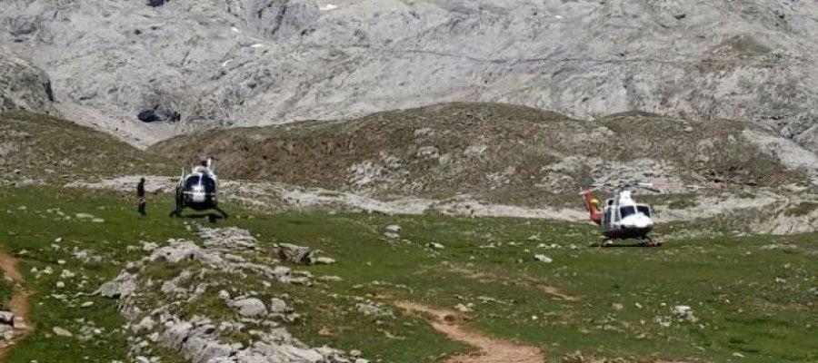 Búsqueda senderistas suizos