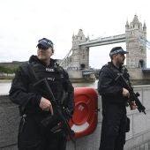 Vista de las medidas de seguridad en Londres