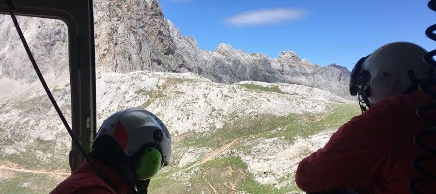 Búsqueda senderistas suizos desaparecidos en el entorno de Fuente Dé