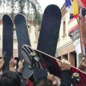 Monopatines en alto homenajean a Ignacio Echeverría en Las Rozas