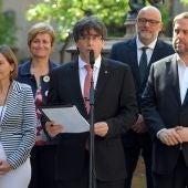 Carles Puigdemont anuncia la fecha del referéndum en Cataluña