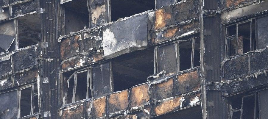 Fachada de la torre Grenfell de Londres, arrasada por el incendio