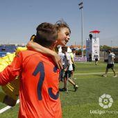 Los jugadores del Villarreal celebran su pase a la final de LaLiga Promises