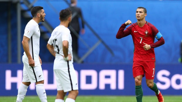 Cristiano Ronaldo celebra su gol ante Nueva Zelanda