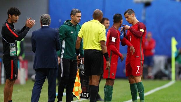 Cristiano Ronaldo, en un partido de Portugal en la Copa Confederaciones