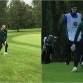 El golpazo y baile posterior de Pep en un torneo de Golf