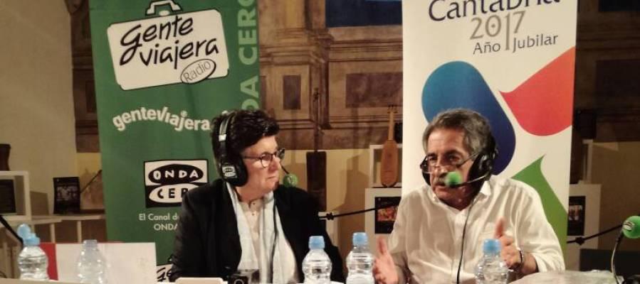 Esther Eiros con Miguel Ángel Revilla