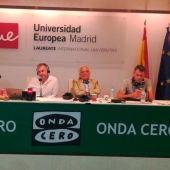 Paco Marhuenda, Carlos Alsina, Raúl de Pozo, Rubén Amón y Antonio Lucas desde la Universidad Europea de Madrid