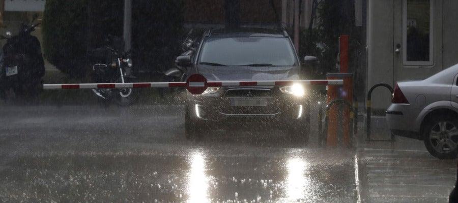 La lluvia intensa duró más de media hora