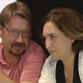 Ada Colau y Xavier Doménech