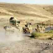 Tanques se dirigen al noroeste de la ciudad de Mosul