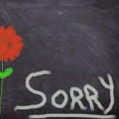 Dibujo con la palabra 'sorry'