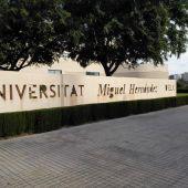 Acceso al campus de Elche de la Universidad Miguel Hernández.