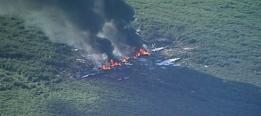 Un avión militar se estrella en Mississippi