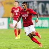 Paulinho, en un partido del Guangzhou