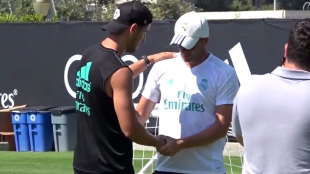 Morata se despide de Zidane
