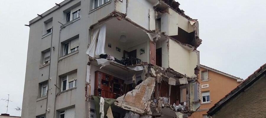 Derrumbe edificio en la calle del Sol de Santander