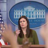 La portavoz de la Casa Blanca, Sarah Huckabee Sanders