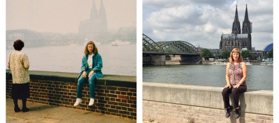 Lisa Werner, la estadounidense que recreó 30 años después su viaje a Europa.