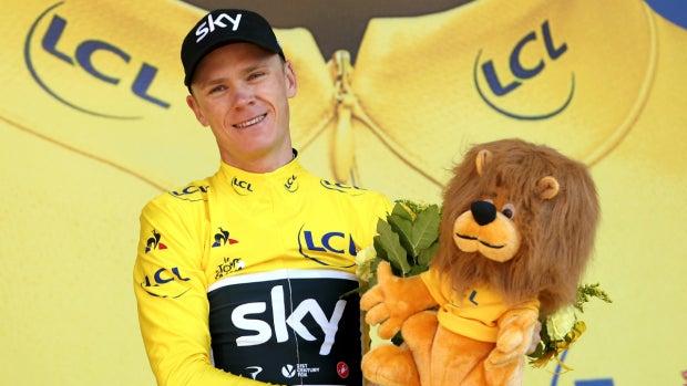 Chris Froome, con el maillot amarillo