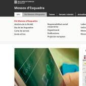 La web de los Mossos sólo se puede consultar en inglés y catalán