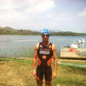 Alejandro Berenguer, en el campeonato de España de Triatlón y Acuatlón
