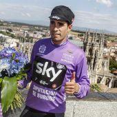 Mikel Landa, corredor del Sky Team, en la Vuelta a Burgos 2017