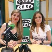 Anabel Abril y Mónica Diez de IPS Tecnology en los micrófonos de Onda Cero León