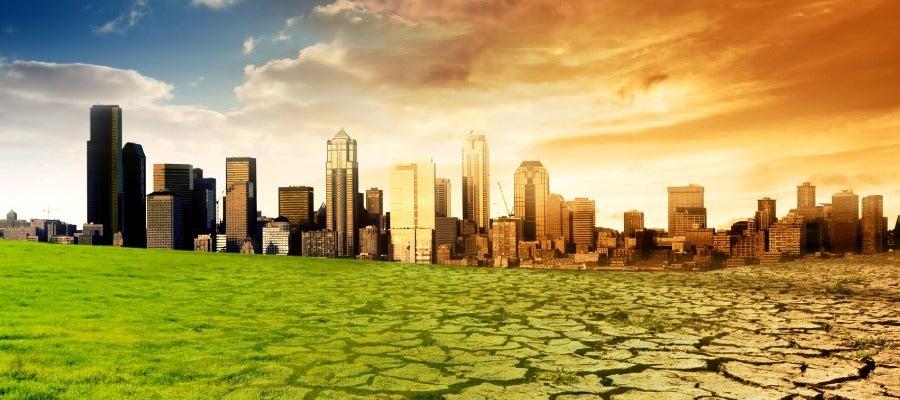 Imagen que simula el cambio climático