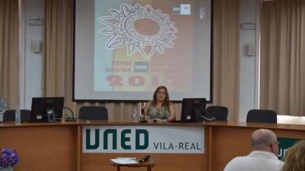 Foto durant la presentació per l'obertura del periode de matriculació