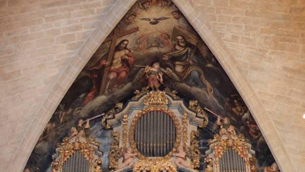 Fotografía del órgano arciprestal de la Basílica de Morella