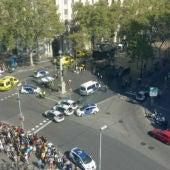 Imagen de Las Ramblas tras el atropello masivo