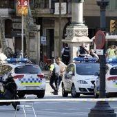 Dispositivo policial en Las Ramblas