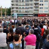 Concentración de silencio contra el atentado de Barcelona.