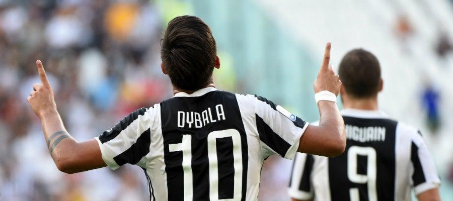 Dybala celebra un gol con la Juventus