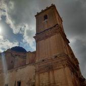 Torre del campanario de la Basílica de Santa María de Elche