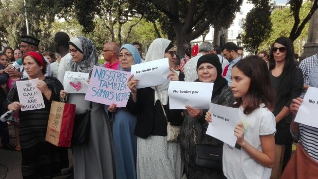 La comunidad musulmana condena los atentados en Barcelona.