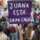 Concentración a favor de Juana Rivas