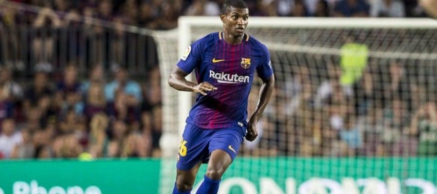 Marlon, en un partido con el FC Barcelona.