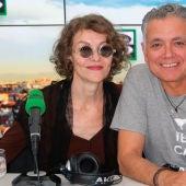 Nuria González durante una entrevista con Juan Ramón Lucas en Más de uno