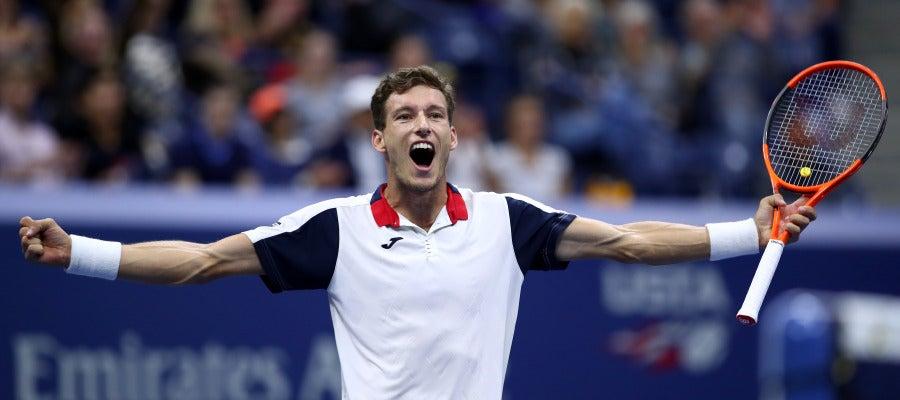 Pablo Carreño celebra su victoria en el US Open