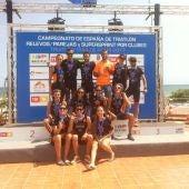 EL LA208 Triatlón Club, subcampeón de España en hombres y mujeres en la modalidad de Supersprint.