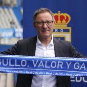 El entrenador del Real Oviedo, Juan Antonio Anquela.